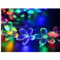 Flower design plastic short string Christmas lights