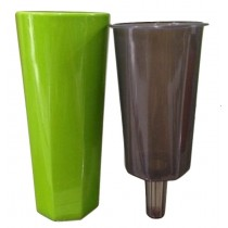 Plastic Tall Round Non Self-Watering Planter