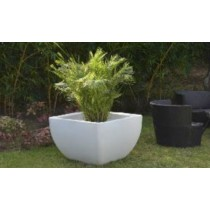 White Marble Finish Planter With CFL Lights