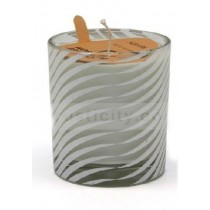 Wave Pattern Scented Glass Candle Jars