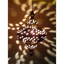Hanging Metal Lantern -dark brown
