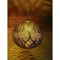 Contemporary ball  Hanging Light, Shiny Gold lanterb