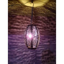 crystal purple oval lantern  .