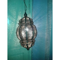 Free-swinging lattice lantern cage