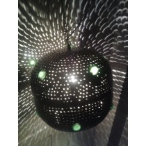 Black disco ball lantern
