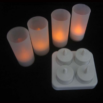 Rechargeable LED candle-4pcs