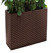 Rectangle Plastic Self-Watering Flower Pot - Small Size