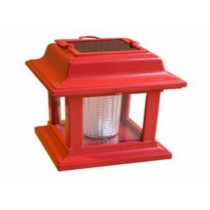 Red colored portable solar light