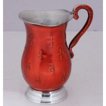 Red Decorative Design Aluminium Jug