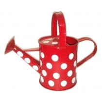 Red Polka Dot  9 Inch Watering Can
