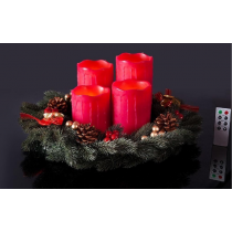 Red Wax Dripping  Melted LED Candles
