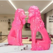 Pink colors resin dog decorations (A)
