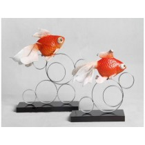Resin goldfish home decor (C)