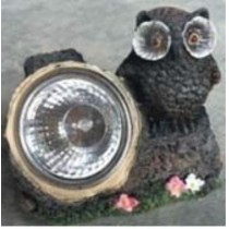 Resin material led solar garden owl lighting