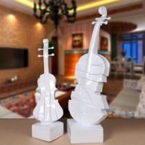 Resin violin festive decor,home decoration (A)