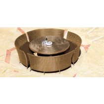 Round Coffee Color Rattan Coffee Table and Chair Set