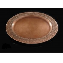 Round copper plated tray