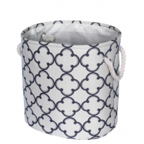 Round Fabric Top Laundry Hamper