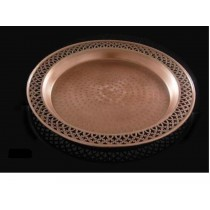 Round Hammered Tray