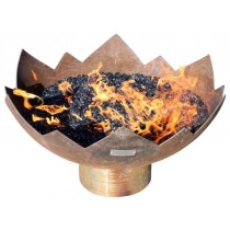 Rustic Lotus Shape Steel Fire pit Bowl