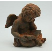 Rustic Sitting Angel Garden Ornaments