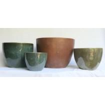 Ht 39cm Sand Blast Ceramic Planter