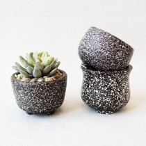 Set Of 3 Pcs Simple Style Ceramic Planter