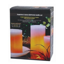 Set of Three LED Candle-Large Size