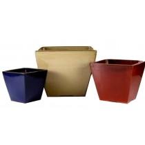 Shiny Glazed 23cm Height Plastic Pot