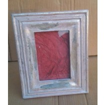 "5'' x 7""Shiny Washed Wooden Decorative Photo Frame"