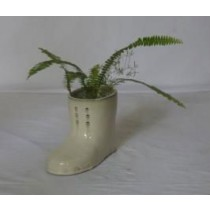 Cream Shoes Shape Ceramic Planter