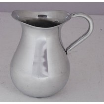 "9'' x 7""Silver Aluminium Simple Plain Jug With Handle"