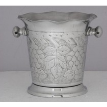 Silver Brass Metal Decorative Design Wine Cooler