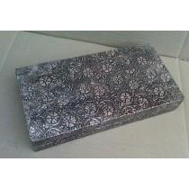 Silver Metal Embossed Jewellery Box