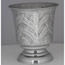 Silver Metal Leaves Design Vase & Wine Cooler Bucket