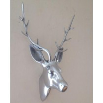 Silver shade Deer Head -Decorative Stage wall head
