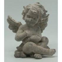 Sitting Angel Cement Garden Ornaments