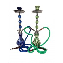 Green And Blue Mirror Mosaic Designer Medium Hookah(Size 1.2 m normal hose)