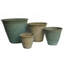 Small Size Aged Bronze Finish Cement Flower Pot