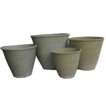 Small Size Beige Finish Cement Pots
