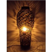 Small size vase shape lamp-Zebra etching