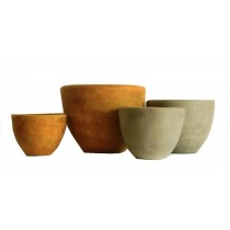 Small Size Yellow Finish Cement Planters