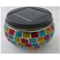 solar jar mosaic lights