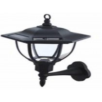 Solar led wall light fixture landsign