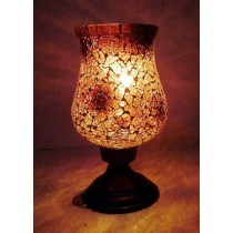Sparkling Crystal Hurricane Candle Holder