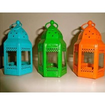 Spring series of  mini lantern iron with glass size-6""