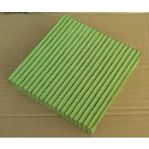 Wooden Box Square Strip Design With Green Paint