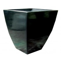 Square Black Color 35 Inch Fiberglass Planter