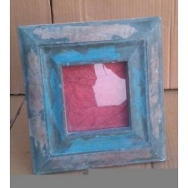 "4'' x 4""Square Blue Washed Natural Wooden Photo Frame"