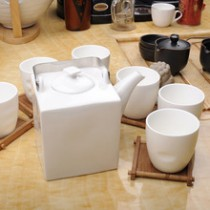 Square good quality ceramic tea set